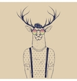 Modern deer hipster like a human vector image vector image