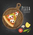 mushroom pizza slice vector image