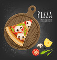 mushroom pizza slice vector image vector image