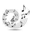 musical theme background vector image