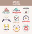 Nature Logo Collection vector image