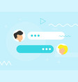 new chat messages flat design vector image