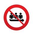 No Queue sign icon Long turn symbol vector image vector image