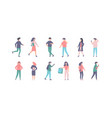 people in casual clothes set vector image vector image