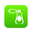 perfume icon digital green vector image