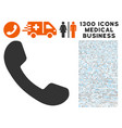 phone receiver icon with 1300 medical business vector image vector image