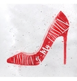 Poster high hill footwear red vector image