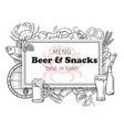 pub food and beer banner vector image vector image