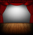red curtain and cinema screen vector image