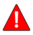 red warning attention caution sign on white vector image