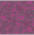 seamless pattern of many hearts vector image vector image