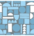 Seamless pattern with abstract shapes vector image