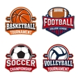 Set of basketball football soccer volleyball vector image vector image
