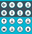 set simple religion icons vector image vector image