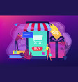 smart retail in smart city concept vector image vector image