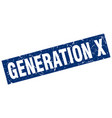 square grunge blue generation x stamp vector image vector image
