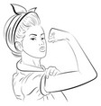 strong girl in eyeglasses classical american vector image