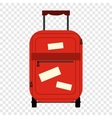 Suitecase flat icon vector image