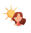 summer heat sunstroke vector image
