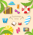 Summer Vacation Time vector image vector image