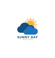 sunny day logo graphic design template vector image