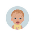 surprised baby emoticon astonished child smiley vector image vector image
