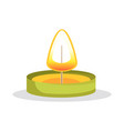 tea candle with flame object vector image vector image
