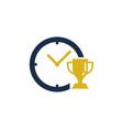 trophy time logo icon design vector image vector image
