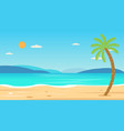 tropical beach travel holiday vacation leisure vector image vector image