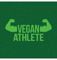 Vegan athlete sign vector image vector image
