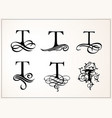 vintage set capital letter t for monograms and vector image vector image