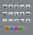 web developer icons - satinbox series vector image vector image