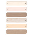 wood board banner vector image