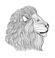 Zentangle stylized lion head Sketch for tattoo or vector image vector image