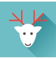 deer head on a blue background vector image