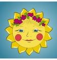 Fabulous sun girl vector image