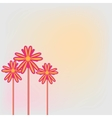 three flower vector image