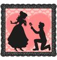 romantic gesture vector image