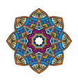 Acid color ethnic mexican peru tribal mandala pr vector image vector image