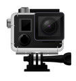 action camera in waterproof case - sport cam icon vector image