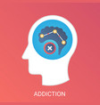 addiction concept modern gradient flat vector image