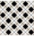black and white argyle harlequin seamless pattern vector image vector image