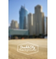 Blurred day beach and city background vector image vector image