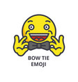 bow tie emoji line icon sign vector image vector image