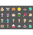 Cafeteria food stickers set vector image vector image