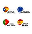 catalonia european union portuguese stickers vector image vector image