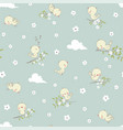 childish seamless pattern with cute little birds vector image vector image