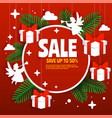 christmas sale poster banner template vector image