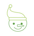 christmas snowman hat character winter vector image