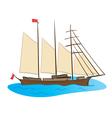 color sailing ship vector image